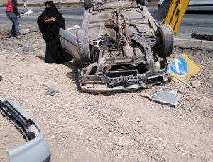 Bingöl'de kontrolden çıkan otomobil takla attı: 4 yaralı