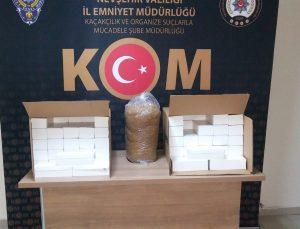 Nevşehir'de 20 bin adet makaron ele geçirildi