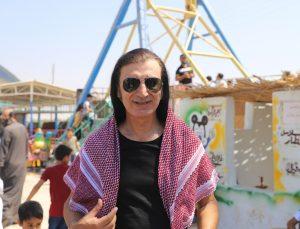 Sanatçı Murat Kekilli Suriyeli yetim çocuklarla şenliğe katıldı