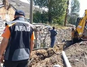 Selin vurduğu köyde hasar tespit çalışması başladı