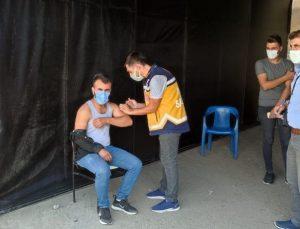 Siirt'te polis uygulama noktalarında aşı hizmeti verilmeye başlandı