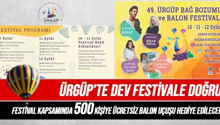 Ürgüp Bağ Bozumu ve Balon Festivali 10 Eylül'de Başlıyor