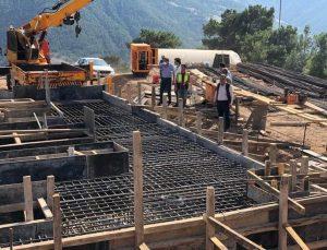 Amasya Belediyesi'nin Akdağ'da kuracağı HES inşaatı sürüyor