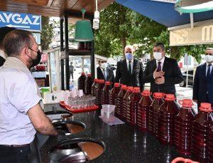 Aşılama oranının yüzde 83'lere ulaştığı Osmaniye'de korona virüs denetimi