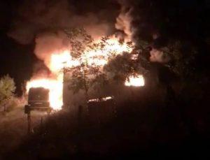 Aynı aileden 4 kişinin hayatını kaybettiği yangının görüntüleri ortaya çıktı