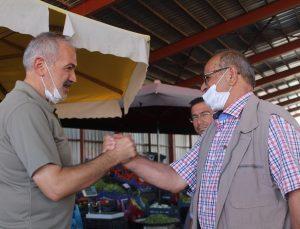 Başkan Coşar Pazarcı esnafını ziyaret etti