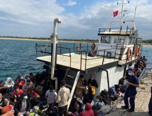 Çanakkale açıklarında 251 düzensiz göçmen yakalandı