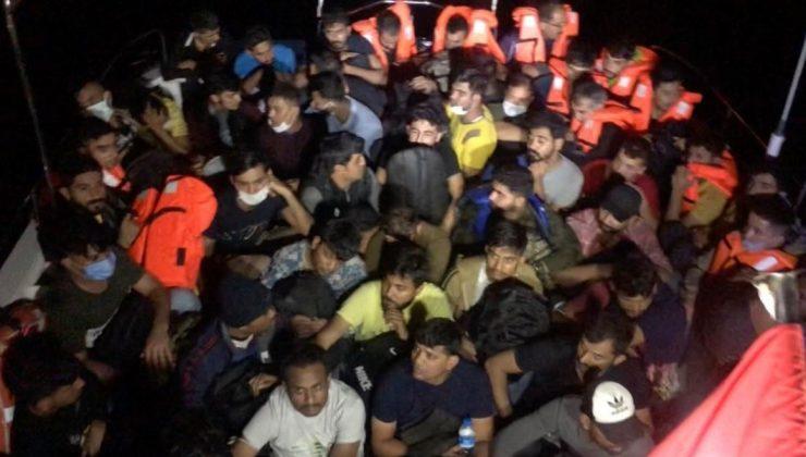 Çanakkale açılarında 58 düzensiz göçmen yakalandı