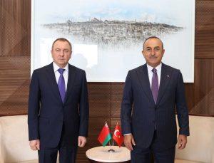 Dışişleri Bakanı Çavuşoğlu, Belaruslu ve Somalili mevkidaşları ile görüştü