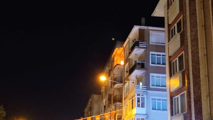 Edirne'de korkutan yangın