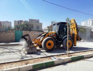 Kızıltepe Stadyum Caddesinde asfaltlama çalışmaları başladı