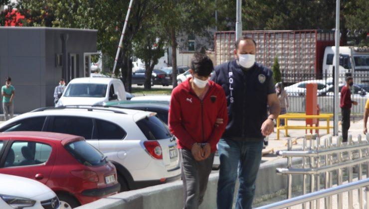Kovalamacada yakalanan baz istasyonu hırsızı adliyeye sevk edildi