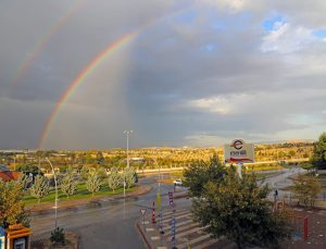 Malatya'da çifte gökkuşağı
