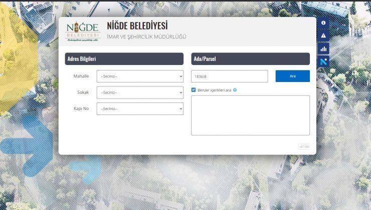 Niğde Belediyesi'nin vatandaşa sunduğu E-imar uygulamasına yoğun ilgi
