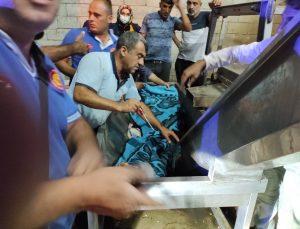 Siirt'te kolunu fıstık işleme makinesine kaptıran adam kurtarıldı