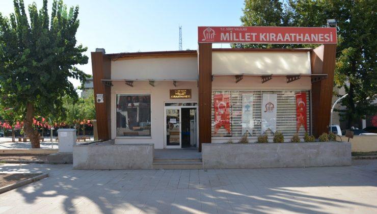 Siirt'te Millet Kıraathanesi halkın hizmetine açıldı