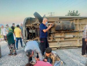Kahramanmaraş'ta minibüs devrildi