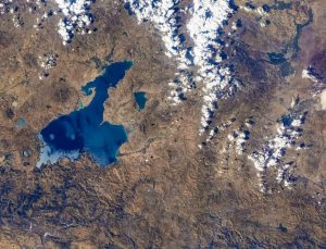 Van Gölü'ne NASA'dan sonra CMSA astronotu ilgi gösterdi
