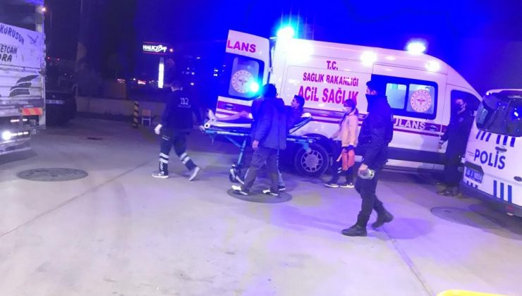 Ankara'da benzinlik istasyonunda bıçaklı saldırı: 1'i polis 2 yaralı