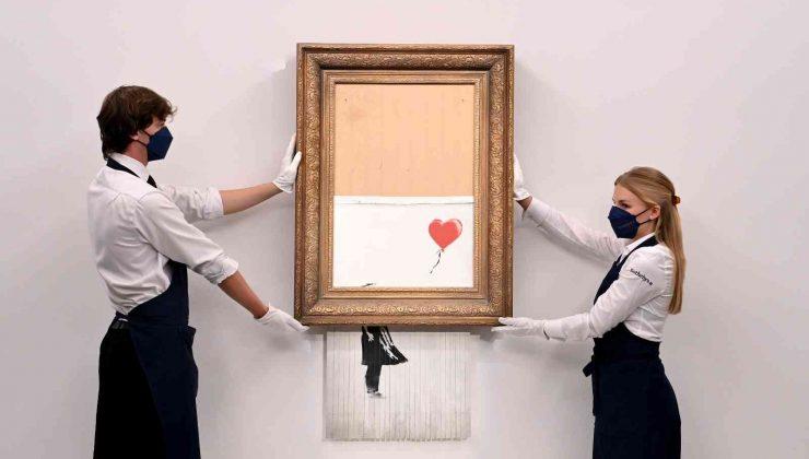 İngiliz sanatçı Banksy'nin eseri rekor fiyata alıcı buldu
