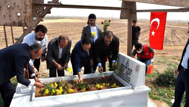 Sınırda 59 yıl sonra bulunan şehidin mezarı onarıldı