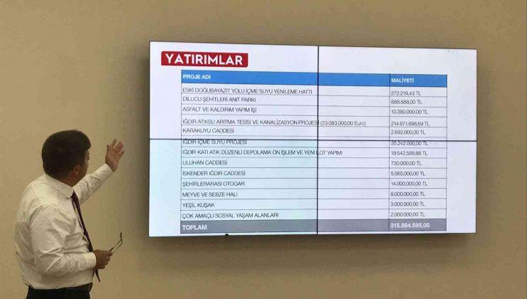 Vali/Belediye Başkan V. Sarıibrahim, basın bilgilendirme toplantısı yaptı